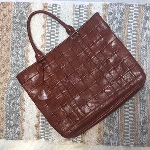H&M Vegan Leather Basket Weave Tote
